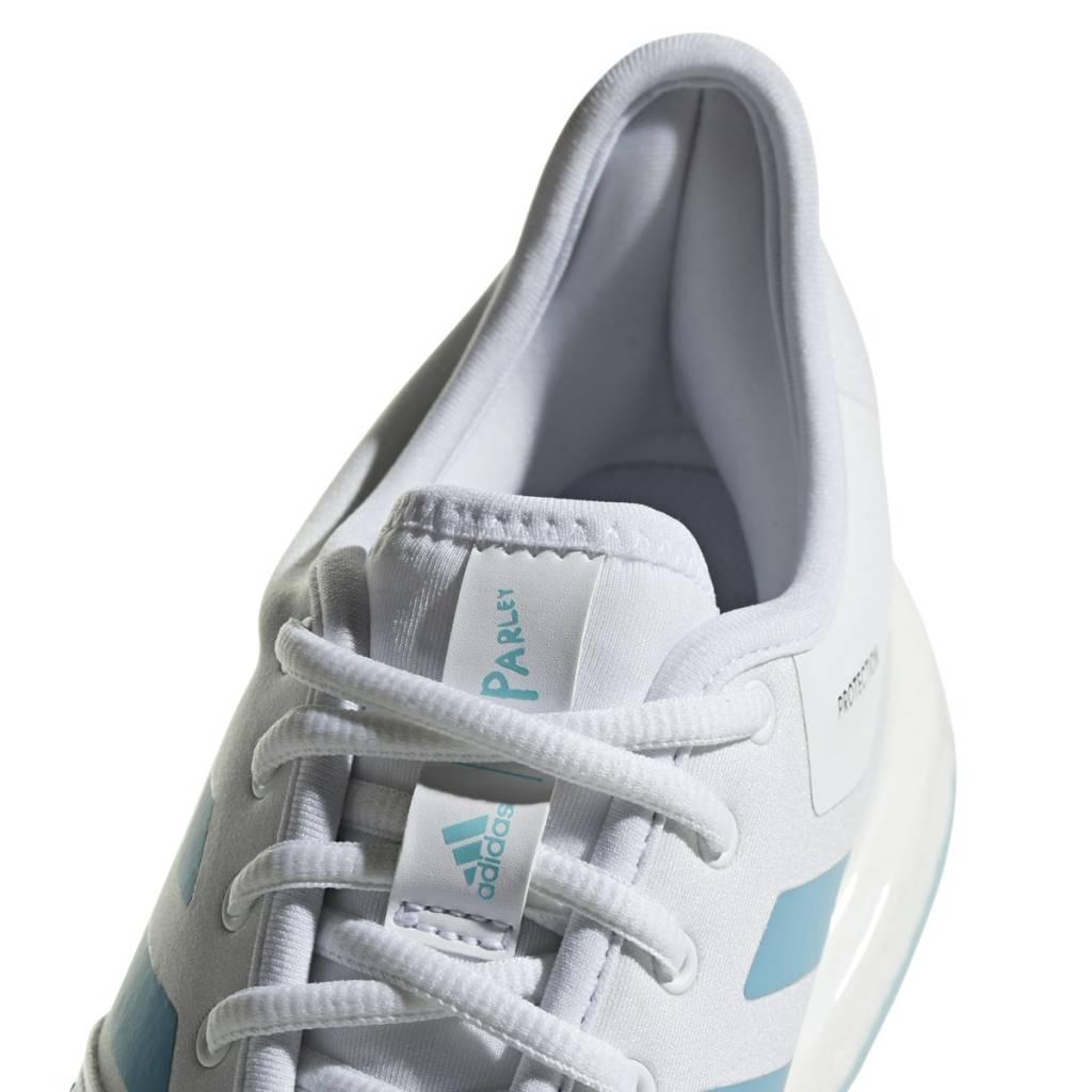 best service 271ff d6aa5 ... Adidas SoleCourt Boost Parley White Blue Men s Shoe ...