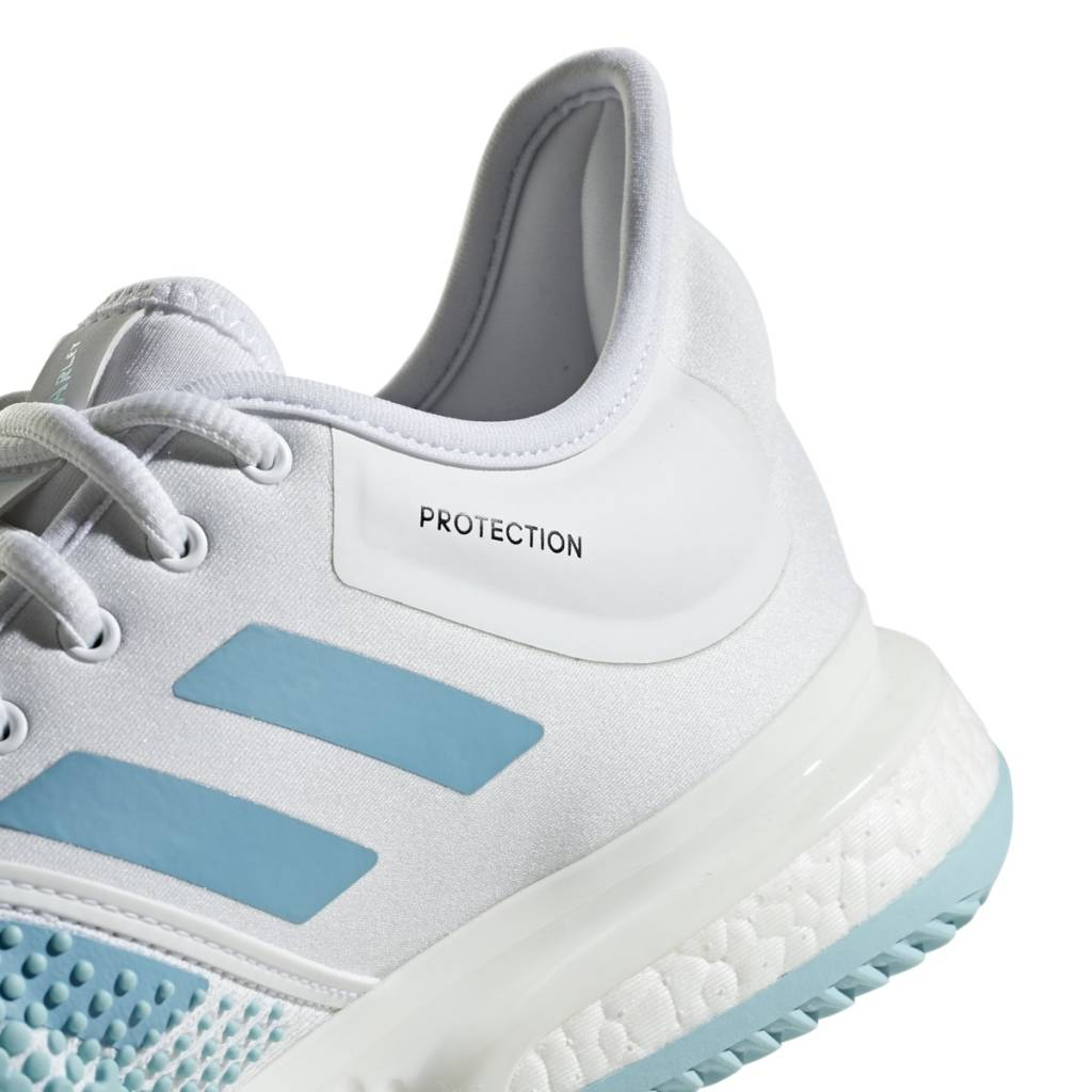online store 18a7f cb9f2 ... Adidas SoleCourt Boost Parley WhiteBlue Mens Shoe ...