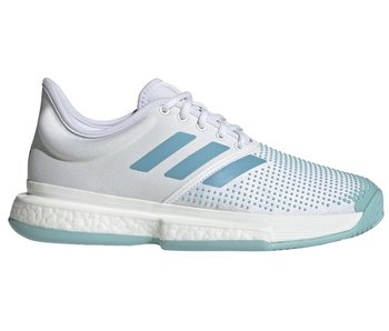 Adidas SoleCourt Boost Parley White Blue Women's Shoe