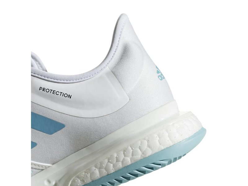 926166fe77e3f SoleCourt Boost Parley White Blue Women s Shoe - Tennis Topia - Best ...