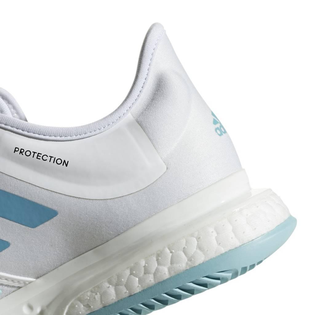4c3541aed874a SoleCourt Boost Parley White Blue Women s Shoe - Tennis Topia - Best ...