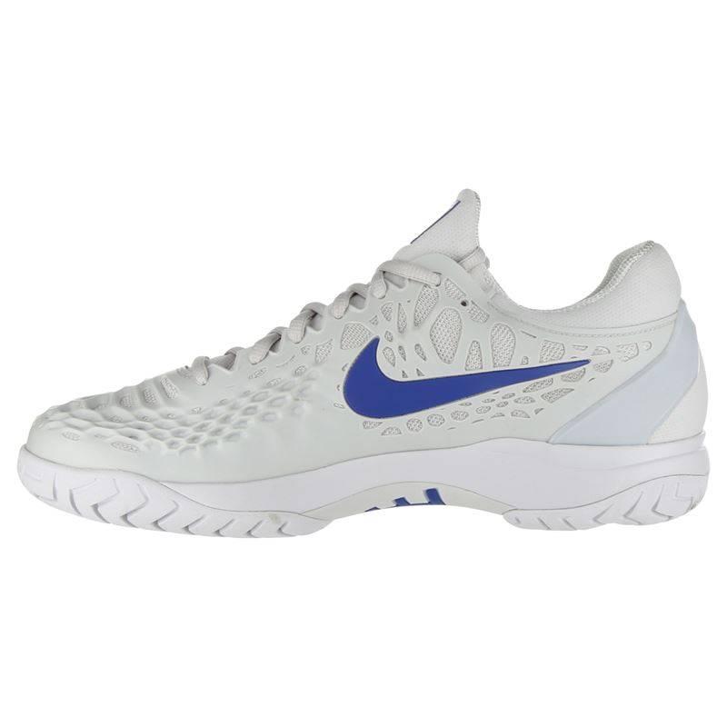 25a336a59 Zoom Cage 3 Grey Indigo Men s Tennis Shoe - Tennis Topia - Best Sale ...
