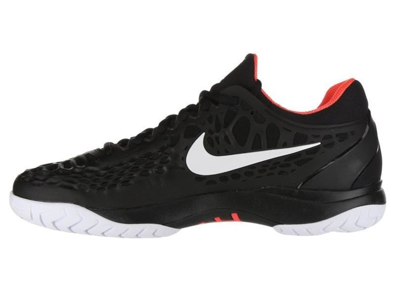 Nike Men's Zoom Cage 3 Black/Bright Crimson Tennis Shoes