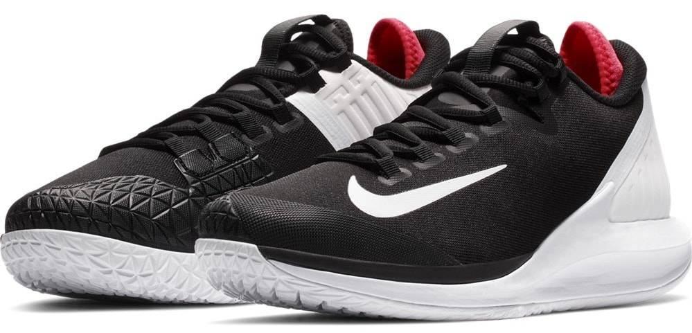 outlet store 83f6a 077bb Court Air Zoom Zero Black/White/Crimson Men's Tennis Shoes