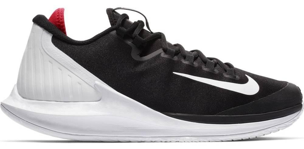 best website cd47f 7b3f2 Nike Court Air Zoom Zero Black White Crimson Men s Tennis Shoes