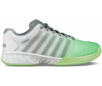 K-Swiss Women's Hypercourt Express White/Paradise Green/Abyss Tennis Shoes