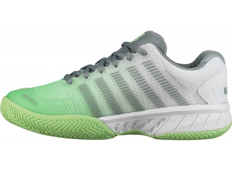 K-Swiss Women's Hypercourt Express White/Paradise Green/Abyss Tennis Shoes
