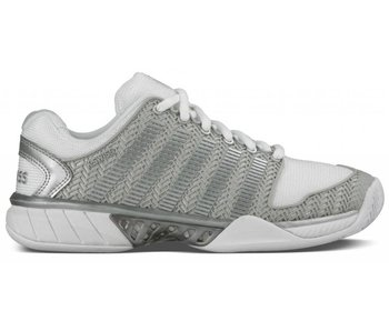 K-Swiss Hypercourt Express White/Grey/Silver Women's Tennis Shoe