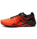 Asics Gel Resolution 7 Cherry Tomato Red/Black Men's Tennis Shoes