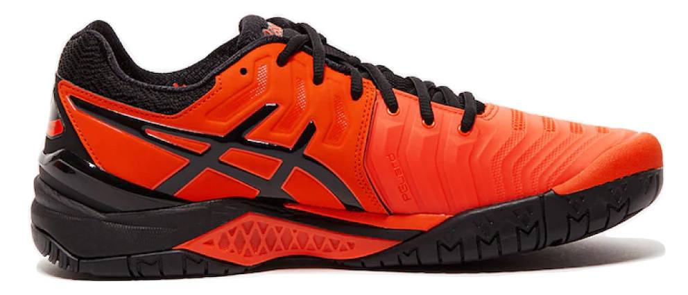 new arrival 41f13 e1feb Asics Gel Resolution 7 Cherry Tomato Red Black Men s Tennis Shoes ...