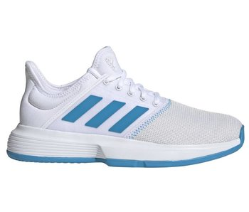 Adidas GameCourt Wide White/Blue Women's Tennis Shoes