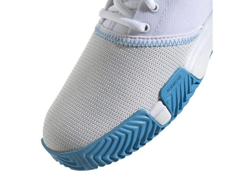 Adidas GameCourt Wide White/Blue Women's Tennis Shoe