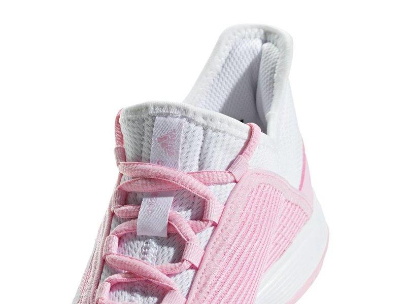 Adidas Adizero Club K Pink/White Junior Tennis Shoes