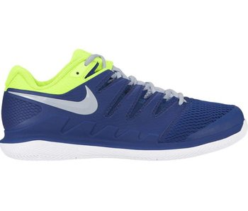 Nike Men's Zoom Vapor X Indigo Blue/Volt Yellow Tennis Shoes