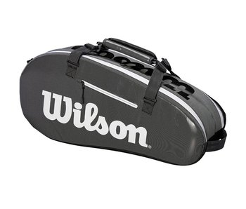 Wilson Super Tour 2-Compartment Dark Grey 6-Pack Tennis Bag