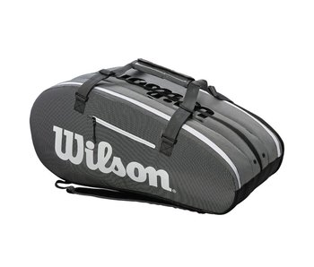 Wilson Super Tour 3 Compartment Black/Grey 15-Pack Bag