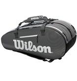 Wilson Super Tour 3 Compartment Black/Grey 15-Pack Bag