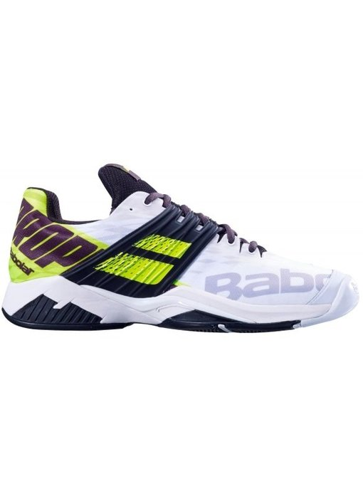 Babolat Propulse Fury White/Fluo Yellow Men's Tennis Shoes