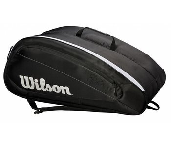 Wilson Fed Team 12-Pack Tennis Bag Black/White