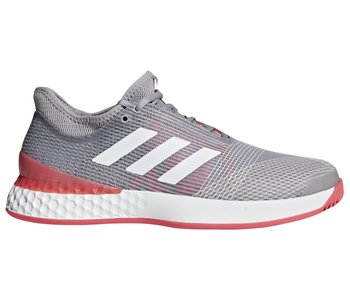 Adidas Men's Adizero Ubersonic 3 Grey/Red Tennis Shoes