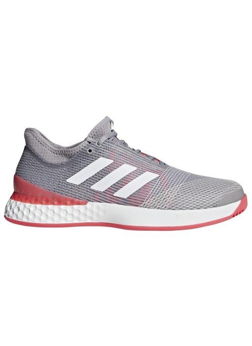 Adidas Men's Adizero Ubersonic 3 Grey/Red Tennis Shoes