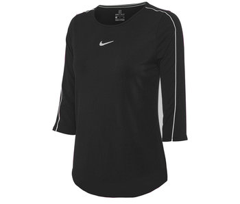 Quince Orchard Team 3/4 Sleeve Top Black with QO logo