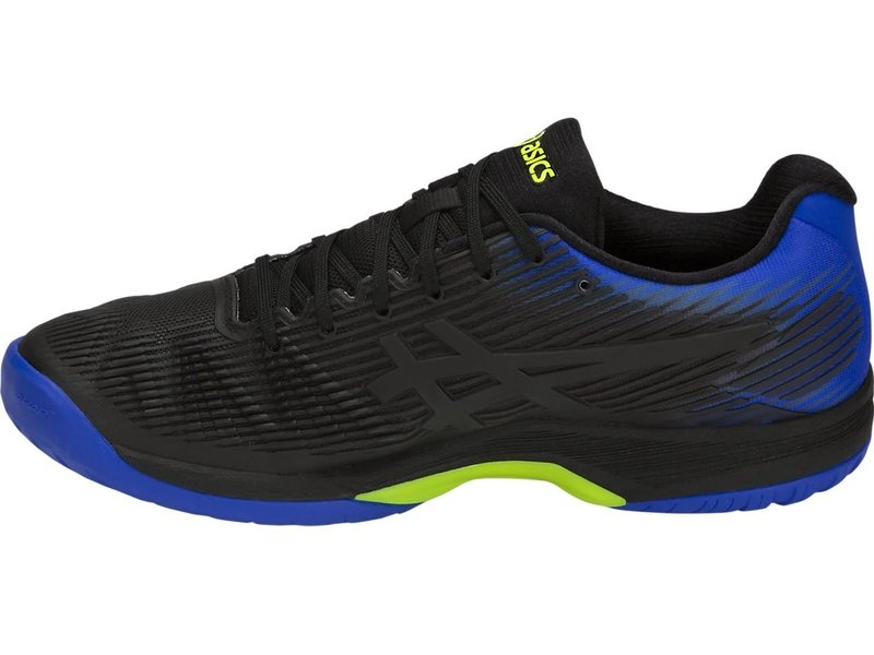 Asics Solution Speed FF Black/ Illusion Blue Men's Tennis Shoes