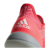 Adidas Women's Adizero Ubersonic 3 Shock Red/Granite  Tennis Shoes