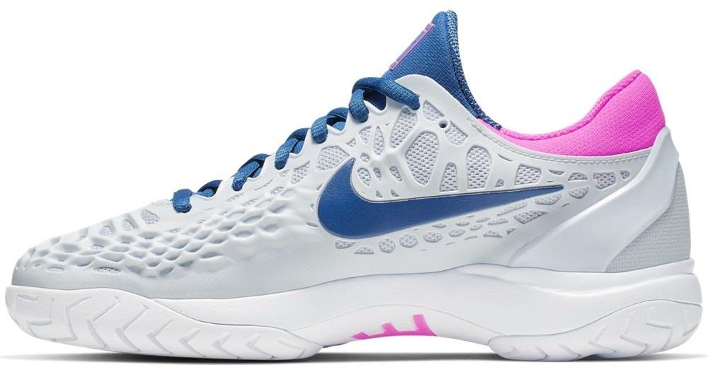 c3fdb6e98 Nike Women s Zoom Cage 3 Half Blue Indigo Pink Tennis Shoes - Tennis ...
