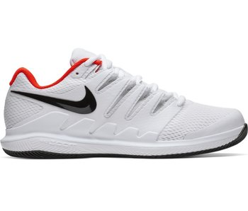 Nike Men's Zoom Vapor X White/Black/Crimson Tennis Shoes