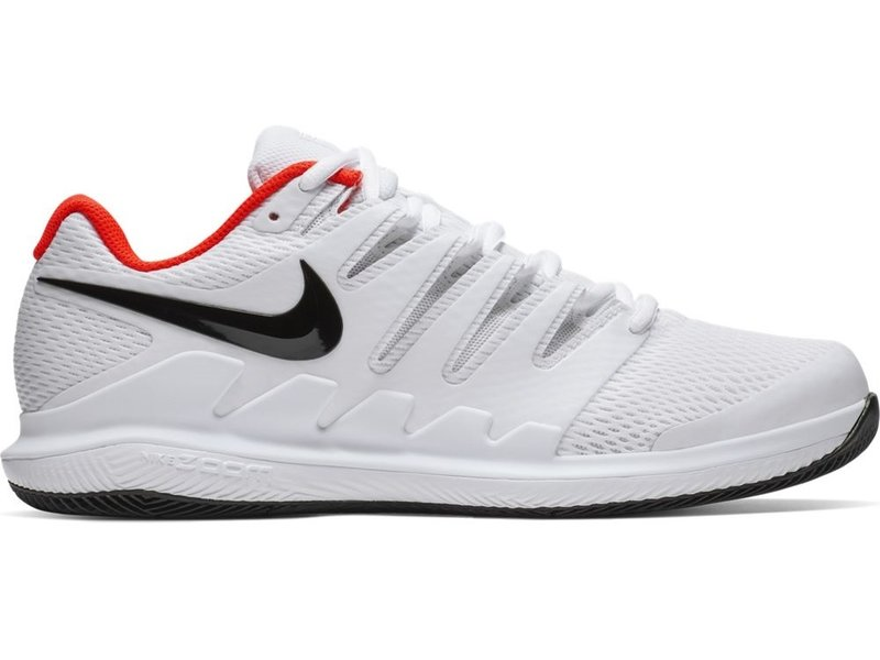 quality design 194a8 9f420 Nike Men s Zoom Vapor X White Black Crimson Tennis Shoes