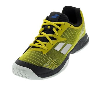 Babolat Kids Jet All Court Yellow/Black Junior Tennis Shoes