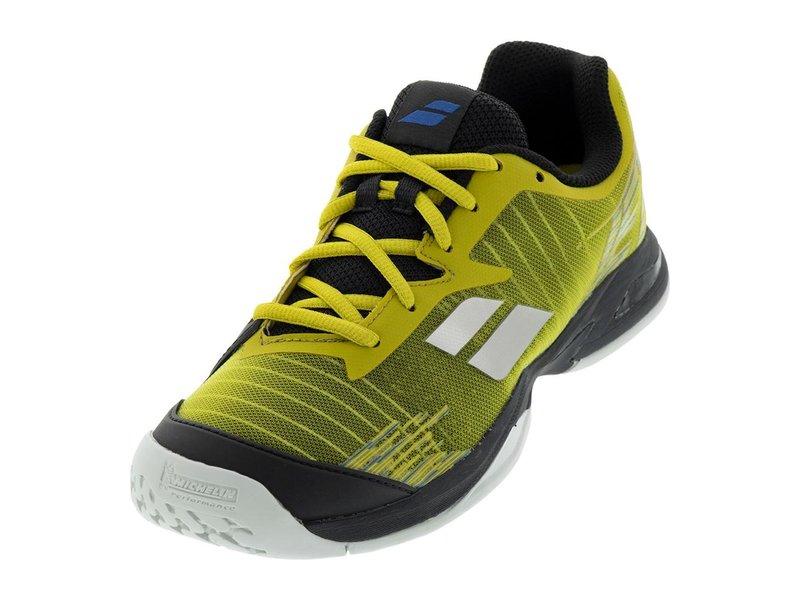 Babolat Kids Jet All Court Yellow/Black Junior Tennis Shoes