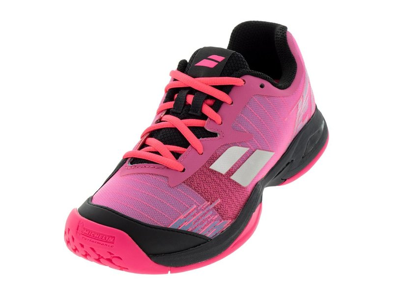 Babolat Babolat Kids Jet All Court Pink/Black Junior Tennis Shoes