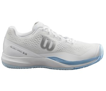 Wilson Women's Rush Pro 3.0 White/Grey/Blue Tennis Shoes