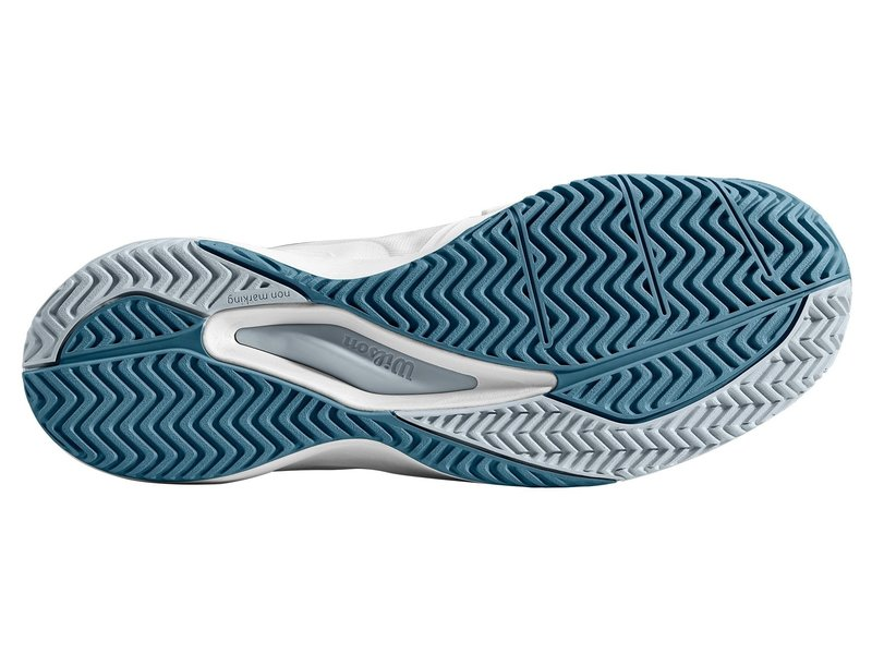 Wilson Men's Rush Pro 3.0 White/Grey/Pearl Blue Tennis Shoes