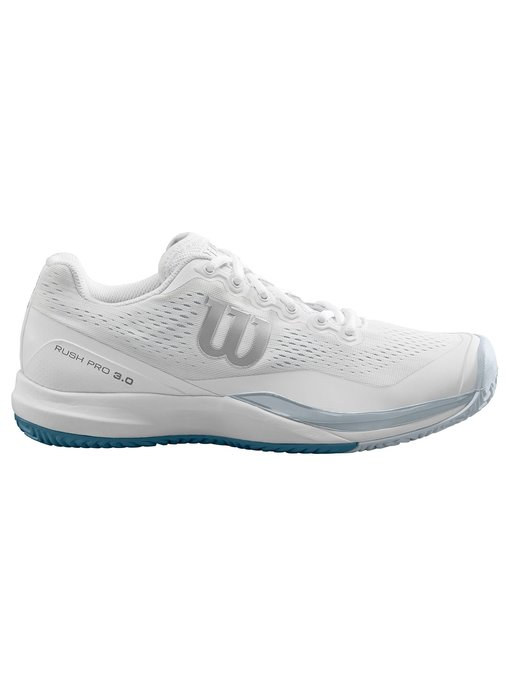 Wilson Men's Rush Pro 3.0 White/Grey/Pearl Blue Tennis Shoes