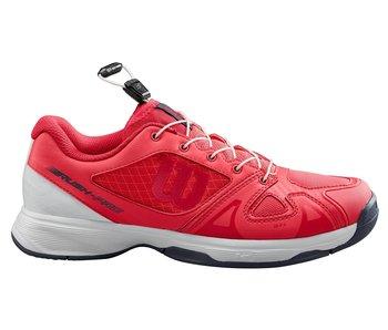 Wilson Juniors Rush Pro Quick Lace Paradise Pink/White Tennis Shoes