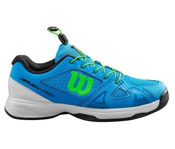 Wilson Juniors Rush Pro Quick Lace Brilliant Blue/Green/White Tennis Shoes