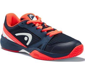 Head Juniors Sprint 2.5 Dark Blue/Neon Red Tennis Shoes