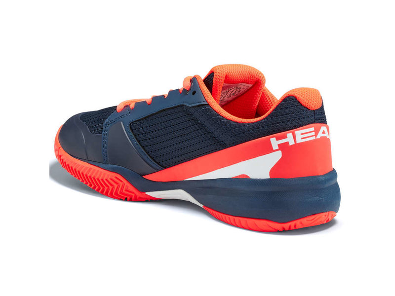 Head Juniors Sprint 2.5 Dark Blue/Neon Red Tennis Shoes
