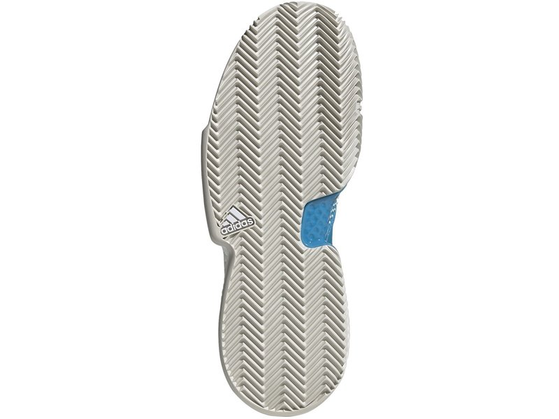 Adidas Men's SoleCourt Boost Clay Shock Cyan Blue/ White Tennis Shoes