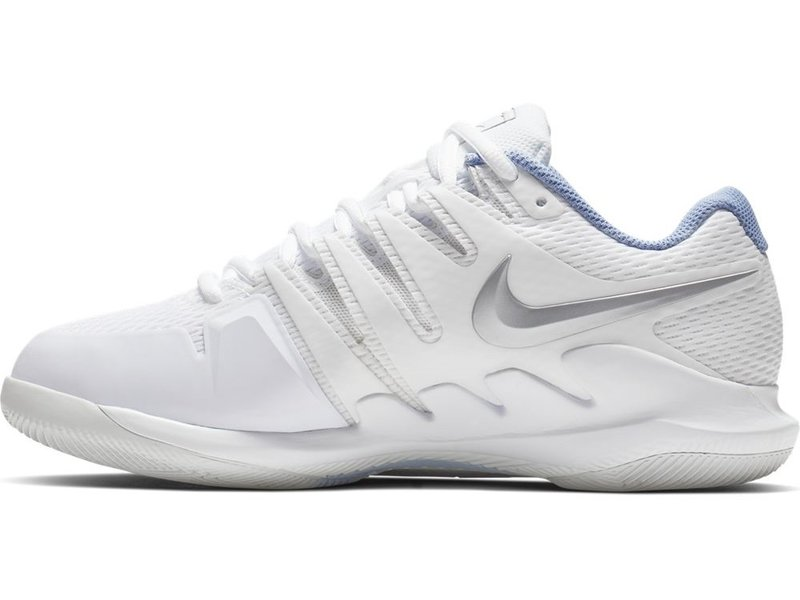Nike Women's Zoom Vapor X WIDE Tennis Shoes White/Metallic Silver