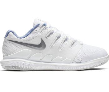 Nike Women's Zoom Vapor X WIDE Tennis Shoes White/Metallic Silver