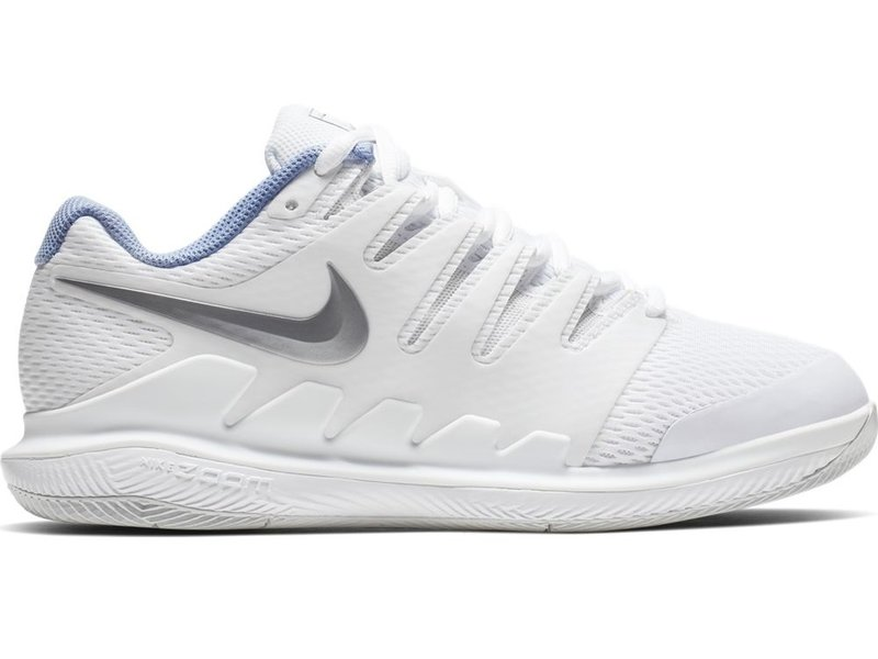 new arrival 16747 922ce Nike Women s Zoom Vapor X WIDE Tennis Shoes White Metallic Silver