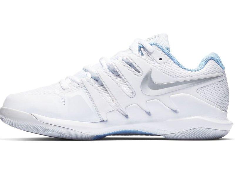 Nike Women's Zoom Vapor X White/Metallic Silver Tennis Shoes