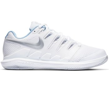 Nike Women's Zoom Vapor X White/Metallic Silver Tennis Shoes