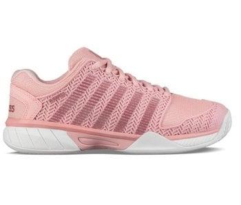 K-Swiss Hypercourt Express Coral/White Junior Tennis Shoes