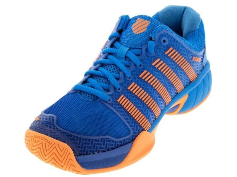K-Swiss Hypercourt Express Blue/Neon Orange Junior Shoe