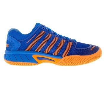K-Swiss Hypercourt Express Blue/Neon Orange Junior Shoe